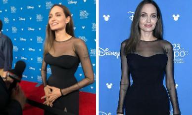 Angelina Jolie lộ thân hình gầy gò khi diện đầm cocktail cắt xẻ gợi cảm