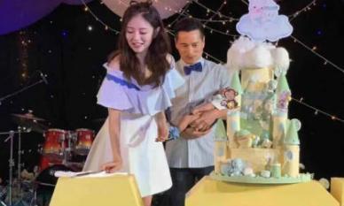 Vợ chồng mỹ nhân 'Ỷ thiên đồ long ký' chi hơn 4 tỷ đồng làm tiệc đầy tháng cho quý tử