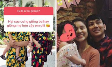 Đăng ảnh gia đình hạnh phúc khi diện đồ đôi, vợ Hoài Lâm còn hiếm hoi tiết lộ điều thú vị về hai con