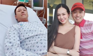 Mới nằm viện vì hở van tim hôm qua, hôm nay Tuấn Hưng đã hồi phục, vui vẻ đưa vợ đi đánh golf