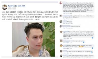 Dùng từ 'chó' để nói về những người chê mình xấu sau thẩm mĩ, Việt Anh bị cư dân mạng mắng 'vô học'