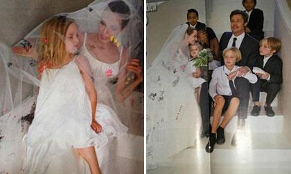 Ngắm trọn bộ ảnh cưới của Angelina Jolie và Brad Pitt