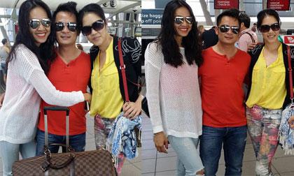 'Bắt gặp' Dương Mỹ Linh ôm chặt Bằng Kiều ở sân bay