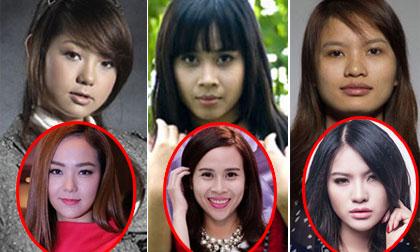 Ngỡ ngàng với gương mặt 'biến đổi' theo thời gian của sao Việt