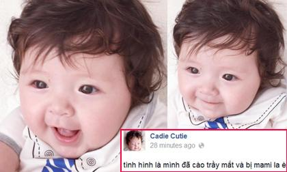 Cadie bị mẹ Elly 'la' vì tự cào trầy mắt mình