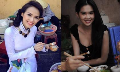 10 mỹ nhân Việt bị 'bỏ bùa' bởi đồ ăn vỉa hè