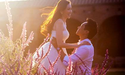 Lộ ảnh cưới lãng mạn của Trúc Diễm và chồng Việt kiều