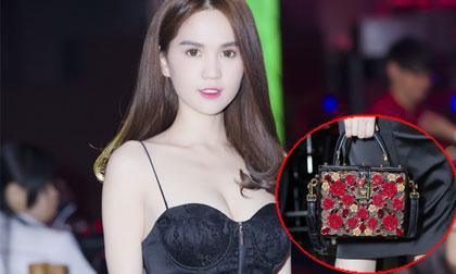 Ngọc Trinh đeo túi hiệu, đồng hồ mạ kim cương đi event