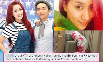 Phan Hiển đến thăm Khánh Thi trong bệnh viện sau scandal tình cảm
