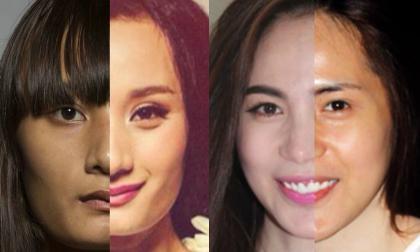 'Mặt thật - mặt giả' trước và sau khi trang điểm của sao Việt (P1)