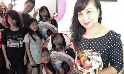 Con gái Maya bất ngờ 'lộ diện' trong sinh nhật bà ngoại