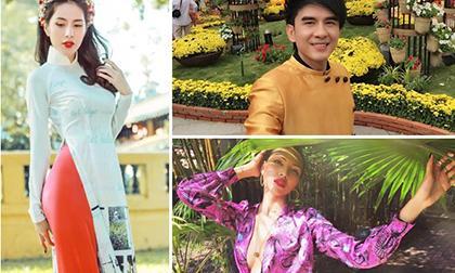 Thời trang đẹp mắt của sao Việt ngày đầu xuân