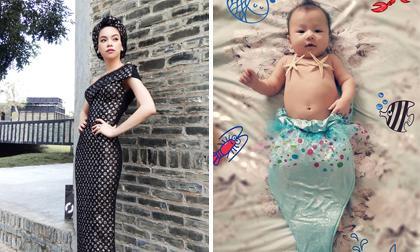 Tin sao Việt mới ngày 27/8: Hà Hồ mặc váy ghép từ khăn Louis Vuitton, con gái Phương Vy hóa thành nàng tiên cá