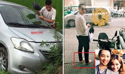 Tin sao Việt mới 30/4: Xe Hiệp Gà gặp nạn trên đường về quê, Chồng Trúc Diễm đi chân đất, nhường dép cho vợ