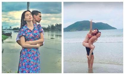Sau khi tuyên bố hẹn hò là để PR, Hà Hồ lộ ảnh đi biển tình tứ cùng Kim Lý