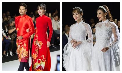 Huỳnh Đông - Ái Châu 'cưới lại' trên sàn diễn thời trang, Thúy Diễm và Diệp Bảo Ngọc bắt tay nhau làm vedette