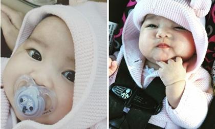 Cận cảnh gương mặt tựa thiên thần của con gái Kim Hiền