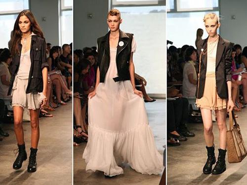 Váy, Mix đồ, Áo da, Boot, Thắt lưng, Giày quân đội, Tư vấn thời trang, Thời trang