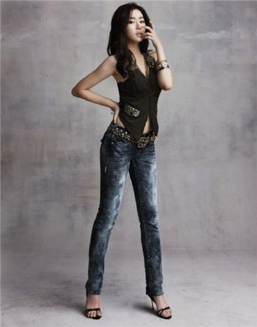 park min young,  thoi trang han,  jeans,  skinny jeans,  cropped jeans