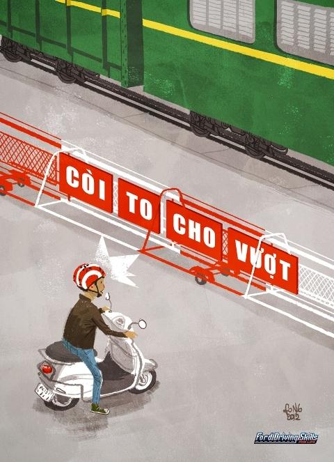 Còi to cho vượt, văn hóa đi xe của người Việt