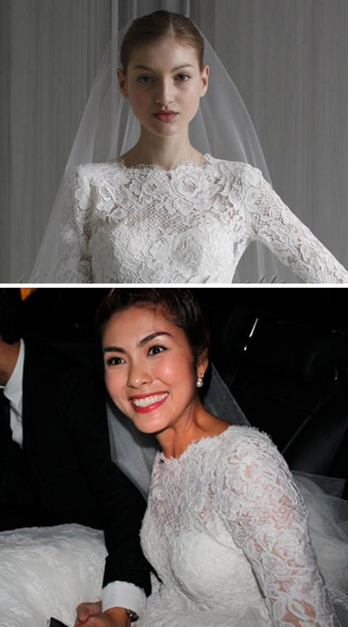 Tăng Thanh Hà mặc váy cưới 67 triệu? - 8