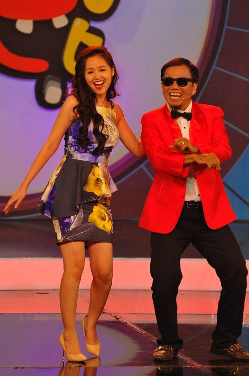 Tâm Tít nhảy Gangnam Style cực sung, Ca nhạc - MTV, tam tit, nhay ngua, gangnam style, ly ngua o, hong to, cao my kim, tai tieu tuyet, chuong trinh hai tap ky