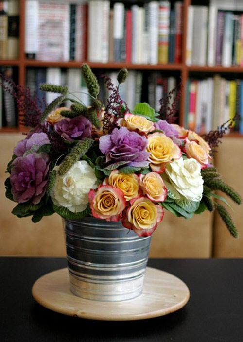 Hoa đẹp 20-10: Lạ mắt 2 mẫu cắm hoa Bắp cải - 9