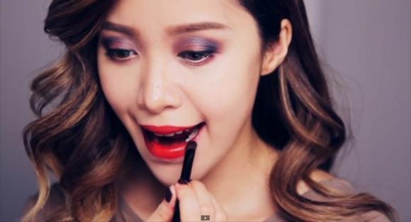 Hướng dẫn makeup,đẹp,trang điểm,thời thượng,quý phái,hồng đào,chuyển mầu,đôi mắt,quý cô,làm đẹp