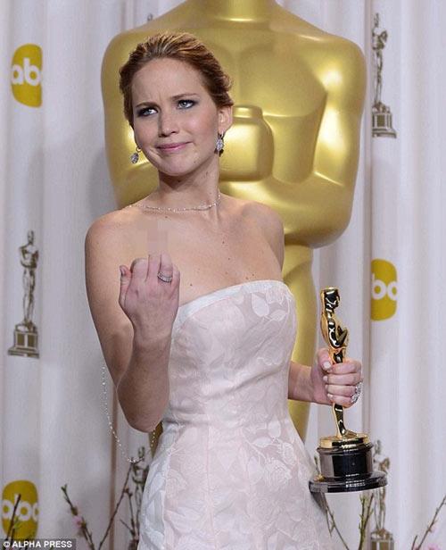 Sự cố của sao,Sao hollywood,Sao lộ hàng,Jennifer Lawrence 2013