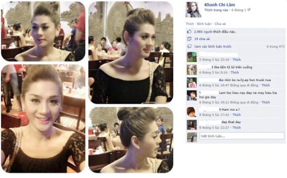 Lâm Chi Khanh cũng cực kỳ thích pose ảnh và check in trên facebook