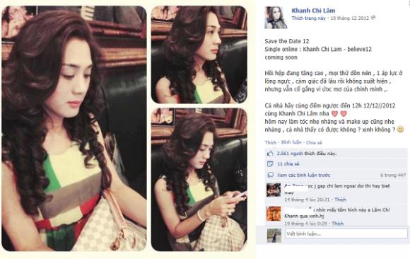 Lâm chí Khanh 2013,Khanh Chi Lâm 2013,Nghệ sĩ chuyển giới,Lâm Chi Khanh 2013,Facebook sao