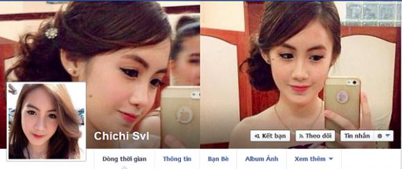Trang facebook cá nhân của Chichi đang nhận được rất nhiều sự quan tâm của cộng đồng mạng