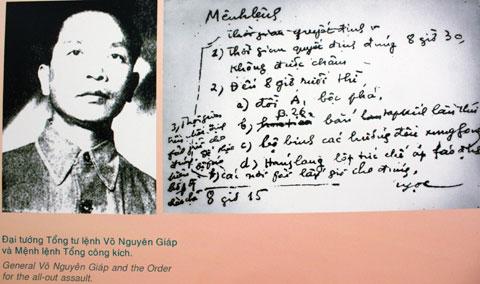 Mệnh lệnh Tổng công kích Chiến dịch Điện Biên Phủ. Khối bộc phá 900 kg nổ lúc 20h30 ngày 6/5/1954 trên đồi A1 là hiệu lệnh Tổng công kích của Bộ chỉ huy cho các đơn vị trên chiến trường Điện Biên Phủ.