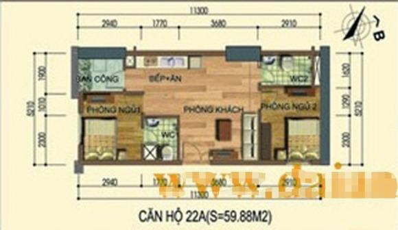 nha201jpg1379666123 Chia sẻ cách tận dụng từng centimet diện tích nhờ bài trí cho căn hộ 60m2