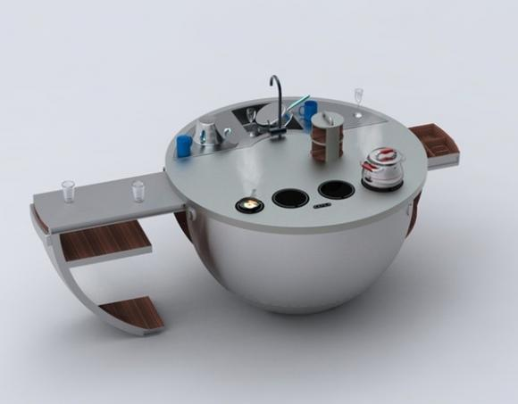 nhadep2012jpg1379670729 Gợi ý những chiếc bếp đa năng tuyệt đỉnh cho mọi không gian