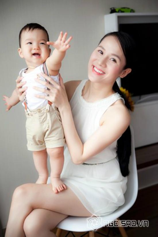 con trai Thái Hà, Thái Hà, người mẫu Thái Hà, con trai Thái Hà tạo dáng bá đạo, bé Sâu con Thái Hà, con trai Thái Hà