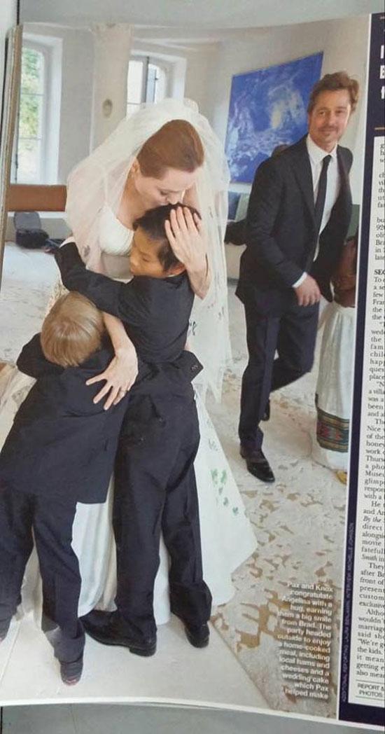 ảnh cưới,Angelina Jolie,Brad Pitt,đám cưới sao Hollywood,cặp đôi hạnh phúc