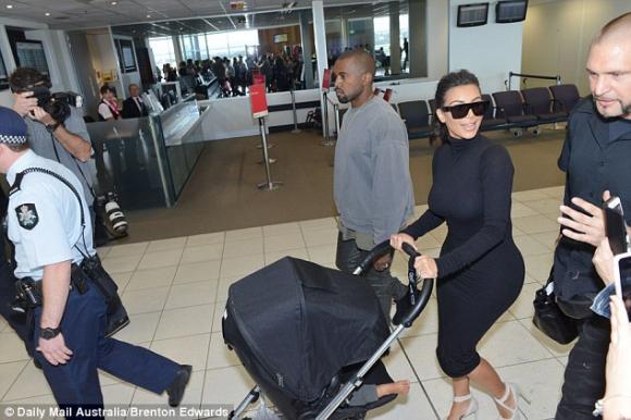 Kim Kardashian, Kim siêu vòng ba, Kanye West, North West