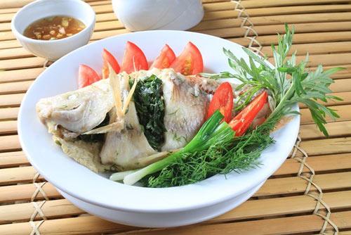 Cá diêu hồng nhồi thịt, Món ăn ngon, Cách làm Cá diêu hồng nhồi thịt
