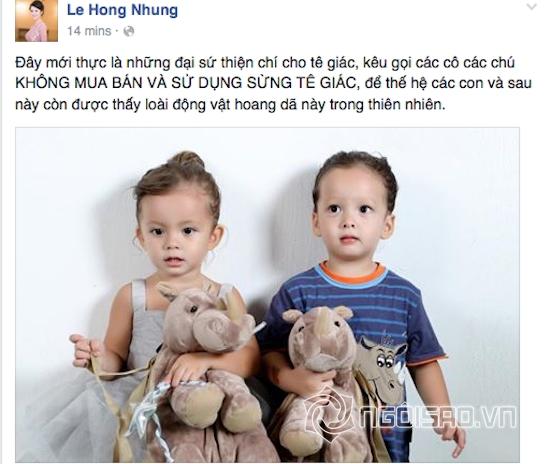 Hồng Nhung, con Hồng Nhung, cặp sinh đôi nhà Hồng Nhung, bé Tôm bé Tép, ca sĩ Hồng Nhung