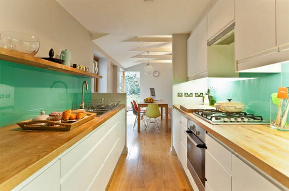 5 mint green glass backsplash Cùng nhìn qua những mẫu kính tường bắt mắt cho phòng bếp