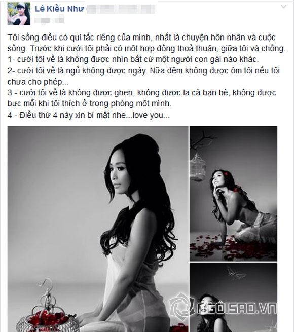 Lê Kiều Như,Nguyễn Nhất Huy,Lê Kiều Như kết hôn,quy tắc hôn nhân của Lê Kiều Như
