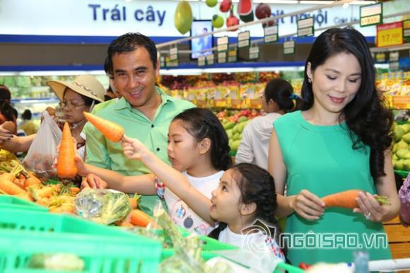 sao Việt, diễn viên Quyền Linh, vợ con Quyền Linh, biệt thự gia đình Quyền Linh, siêu mẫu Bình Minh, vợ con Bình Minh, hai công chúa nhà Bình Minh
