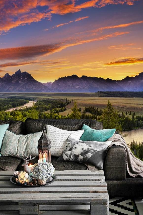 Snake River Wall Mural by PIXERS 650x975 Amazing Wall Murals That Will Make Your Room Look Bigger