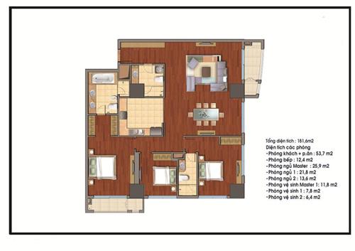 Mãn nhãn căn hộ chung cư cao cấp Hà Nội giá...8 tỷ đồng - 1