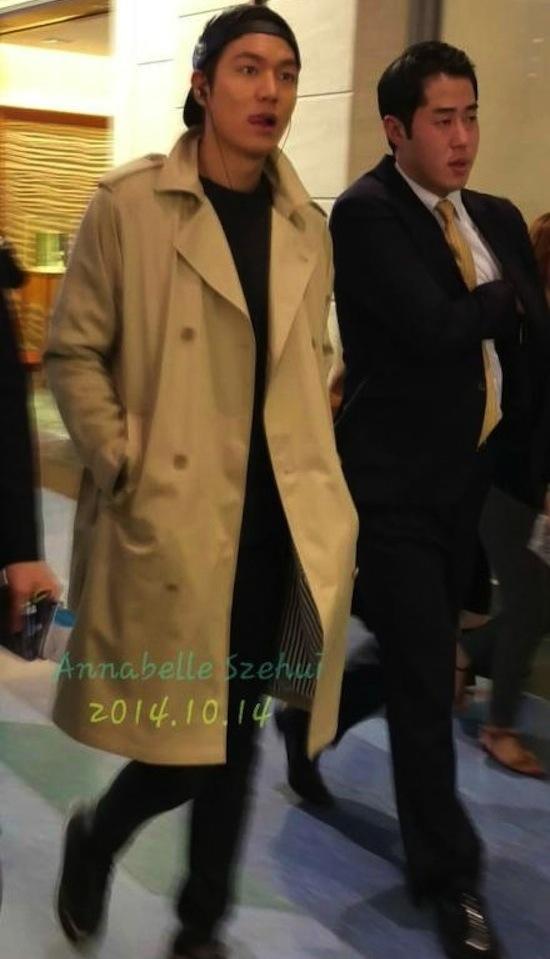 Lee Min Ho, thời trang Lee Min Ho, Lee Min Ho thời trang sân bay, thời trang sân bay sao Hàn, Lee Min Ho đội mũ ngược