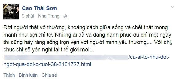 Duy Nhân, Tố Như,Duy Nhân bị ung thư máu, Tố Như qua đời, ca sỹ Tố Như, sao Việt, sao Viet