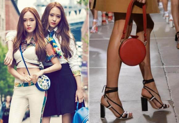 Túi nạm đinh, túi xuyên thấu, túi trong suốt, túi hoạt hình, túi lông thú, sao nữ Hàn, xu hướng túi xách 2015