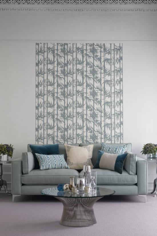 Trang trí nhà,trang trí tường nhà,trang trí tường phòng khách ấn tượng với họa tiết hoa