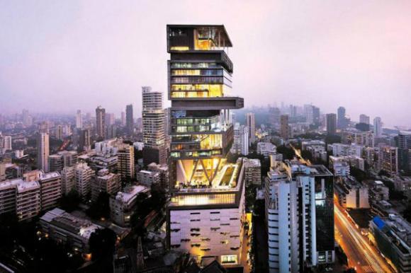 antilia building night view wallpaper 1920x10803 Chiêm ngưỡng 10 ngôi nhà được thèm muốn nhất trên thế giới